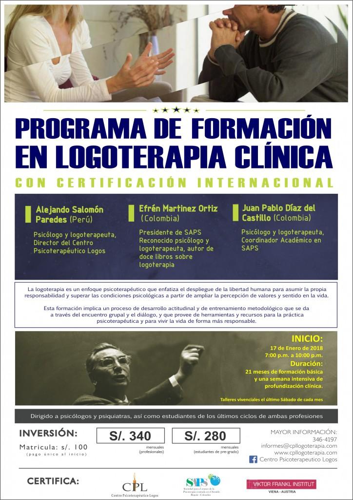 afiche IV programa de formación